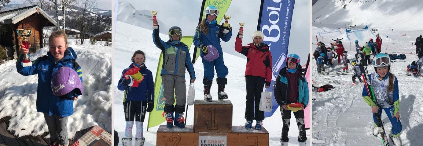 Molly Skiing
